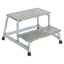 Aluminium plateautrap, eenzijdig begaanbaar 50008