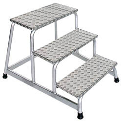 Aluminium plateautrap, eenzijdig begaanbaar 50009