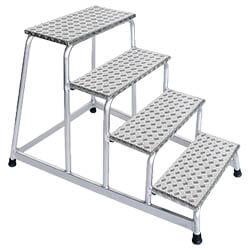 Aluminium plateautrap, eenzijdig begaanbaar 50010