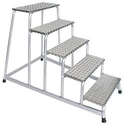 Aluminium plateautrap, eenzijdig begaanbaar 50035