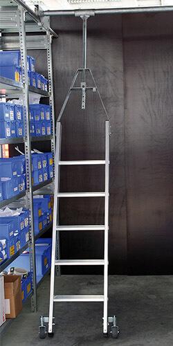 Aluminium stellingtrap, 360° draaibaar