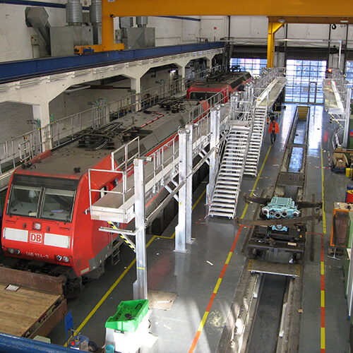 Aluminium vast opgesteld werkbordessen - Roossien Hoogwerktechniek