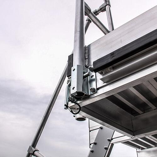 Aluminium verrijdbare platformtrap