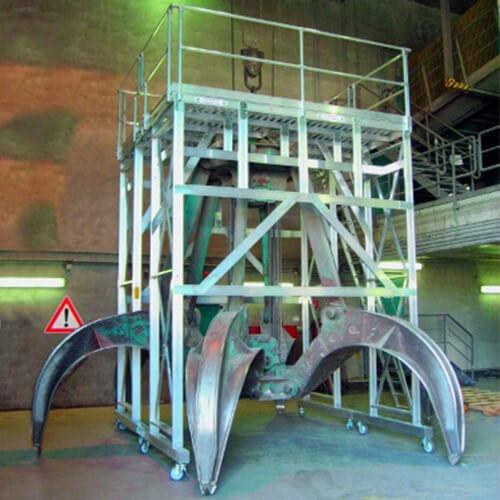 Werkbordes voor grijparm- Roossien Hoogwerktechniek