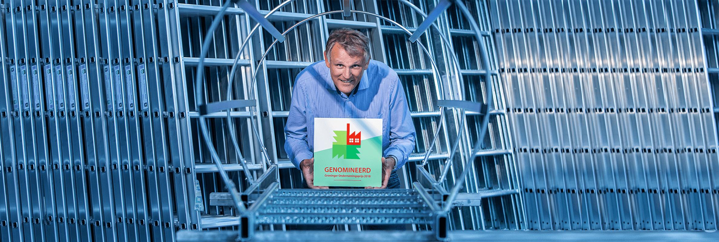 Eddy Roossien met nominatieprijs Groninger Ondernemingsprijs 2018