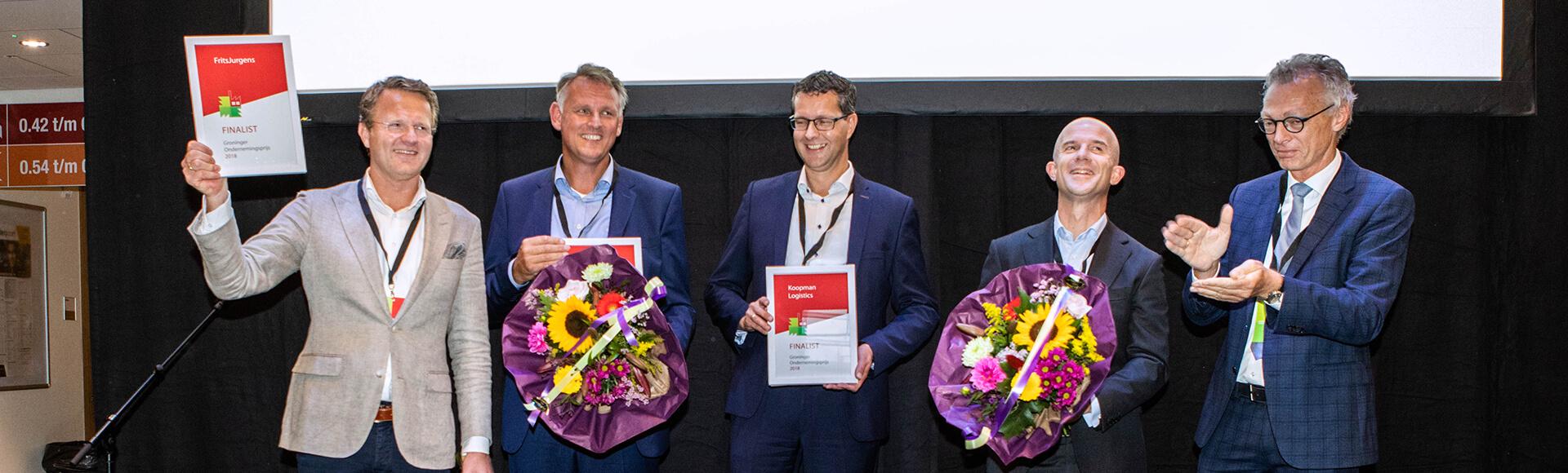 De finalisten van de Groninger Ondernemingsprijs 2018