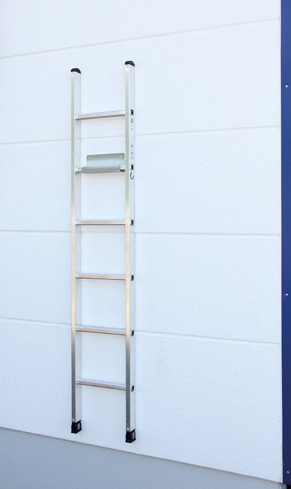 Ladderhouder met ladder