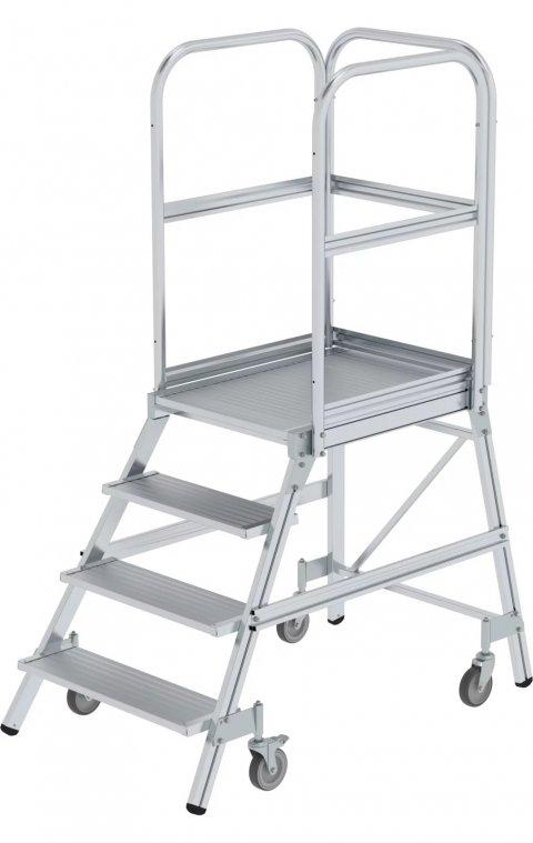 Aluminium enkelzijdige bordestrap, 1x4, 50104