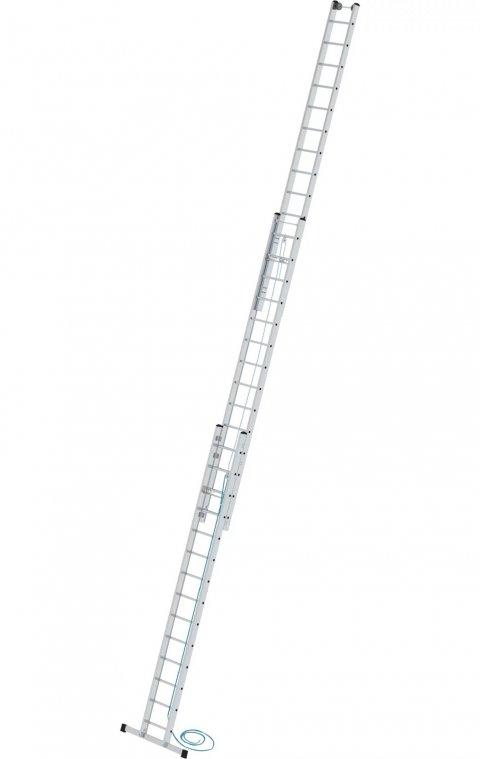 Driedelige optrekladder, met stabilisatiebalk, 3x14, 21614