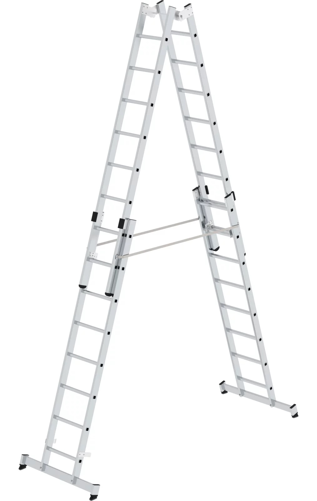 Dubbele, vierdelige ladder, 4x8, 33032