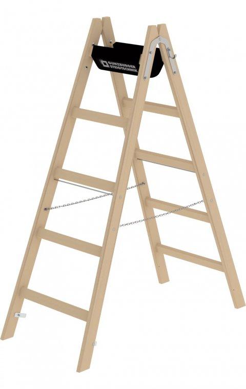 Houten dubbele ladder, 2x5, 33210