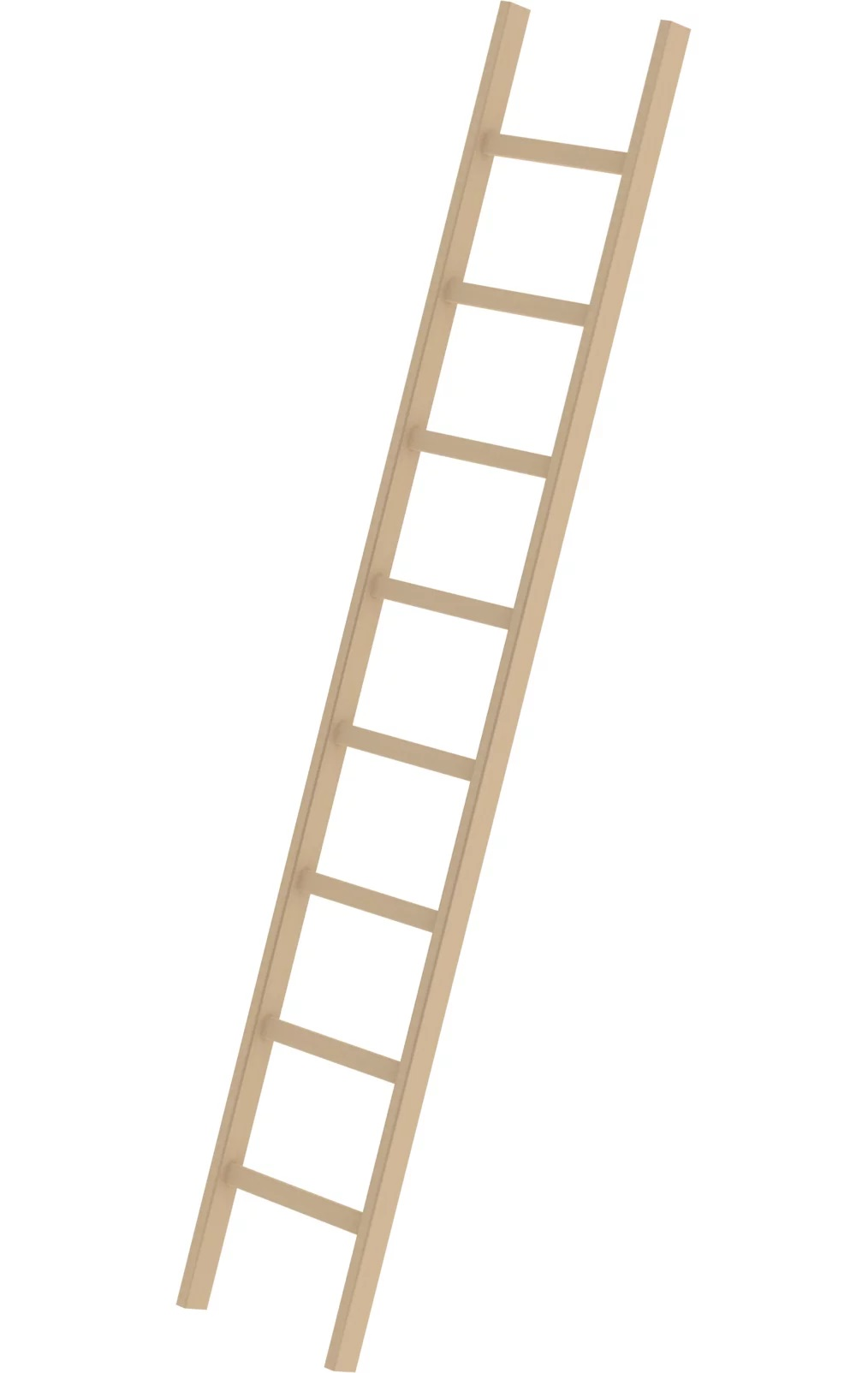Houten enkele ladder, 1x8, 33108