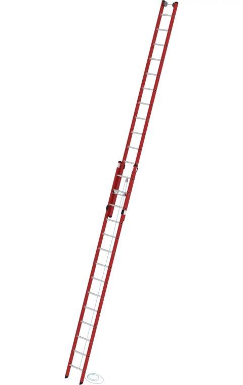 Kunststof tweedelige optrekladder, 2x14, 35214