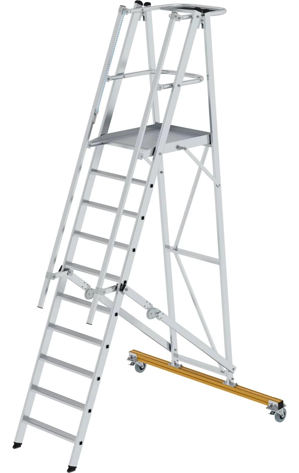 Aluminium platformtrap, verrijdbaar en klapbaar