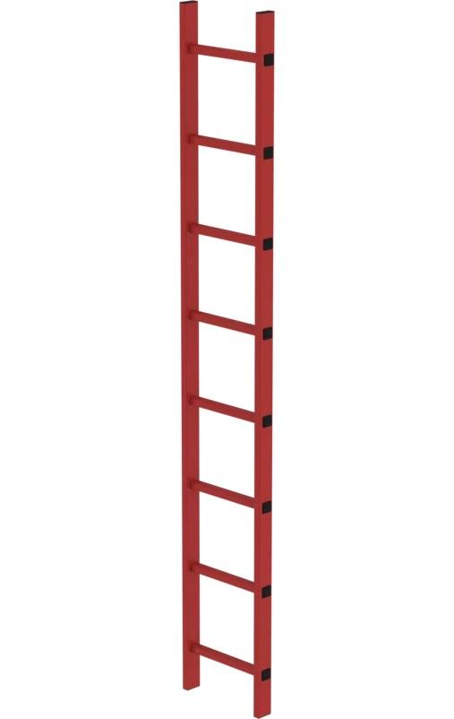 Putladder, kunststof, 350mm, 1x8, 64008