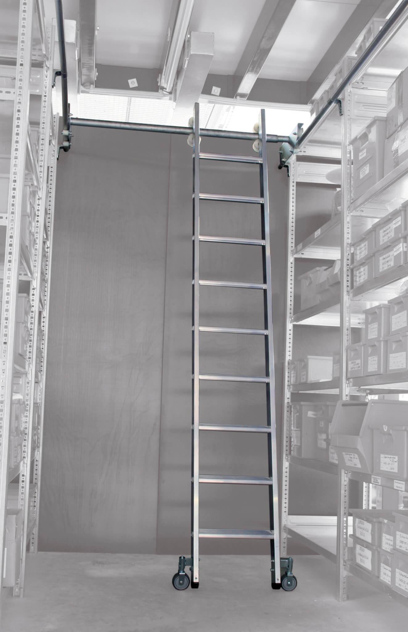 Aluminium stellingtrap, tweezijdig verrijdbaar