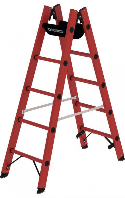 Volkunststof dubbele ladder, 2x5, 36405