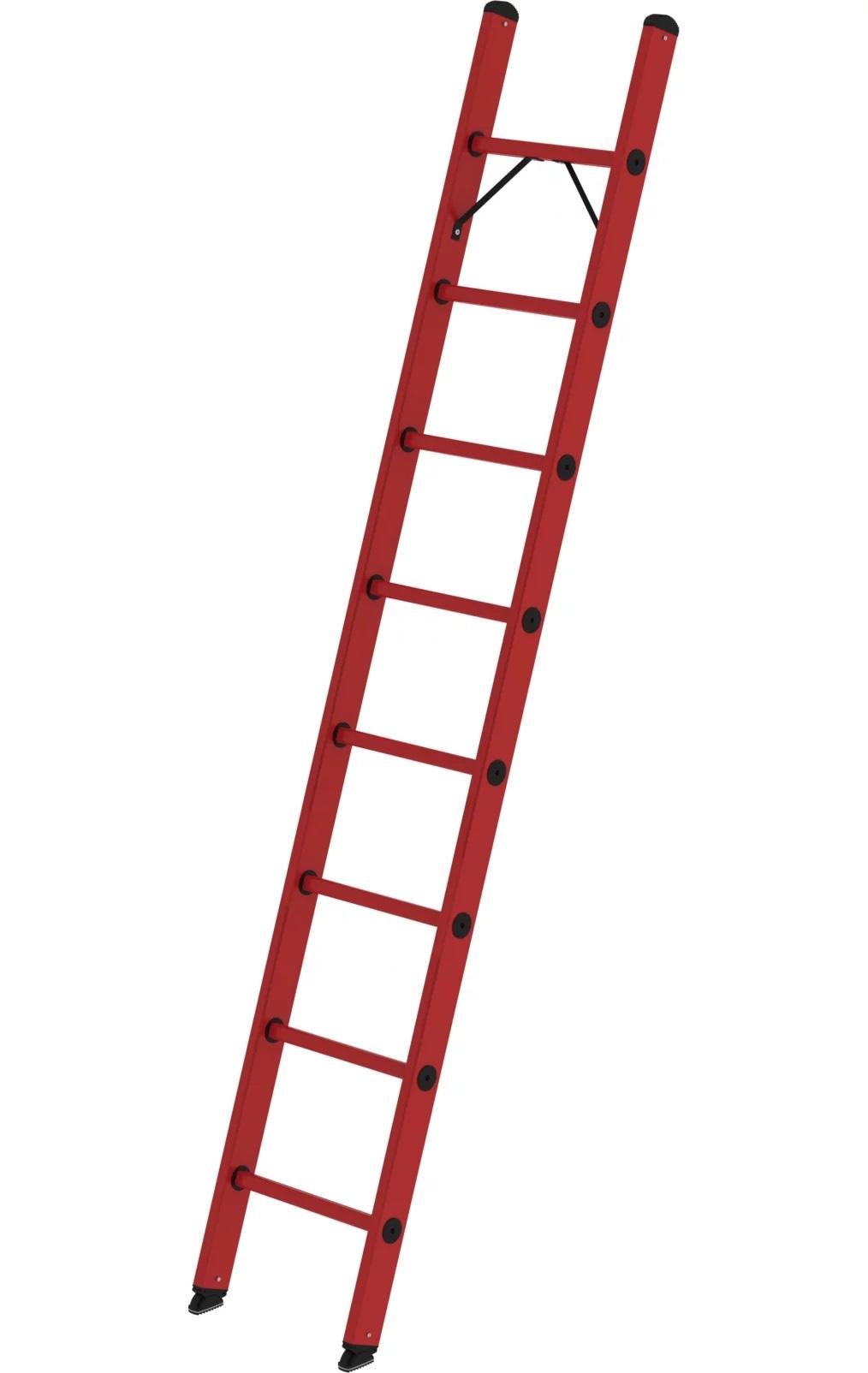 Volkunststof enkele ladder, 1x8, 36008