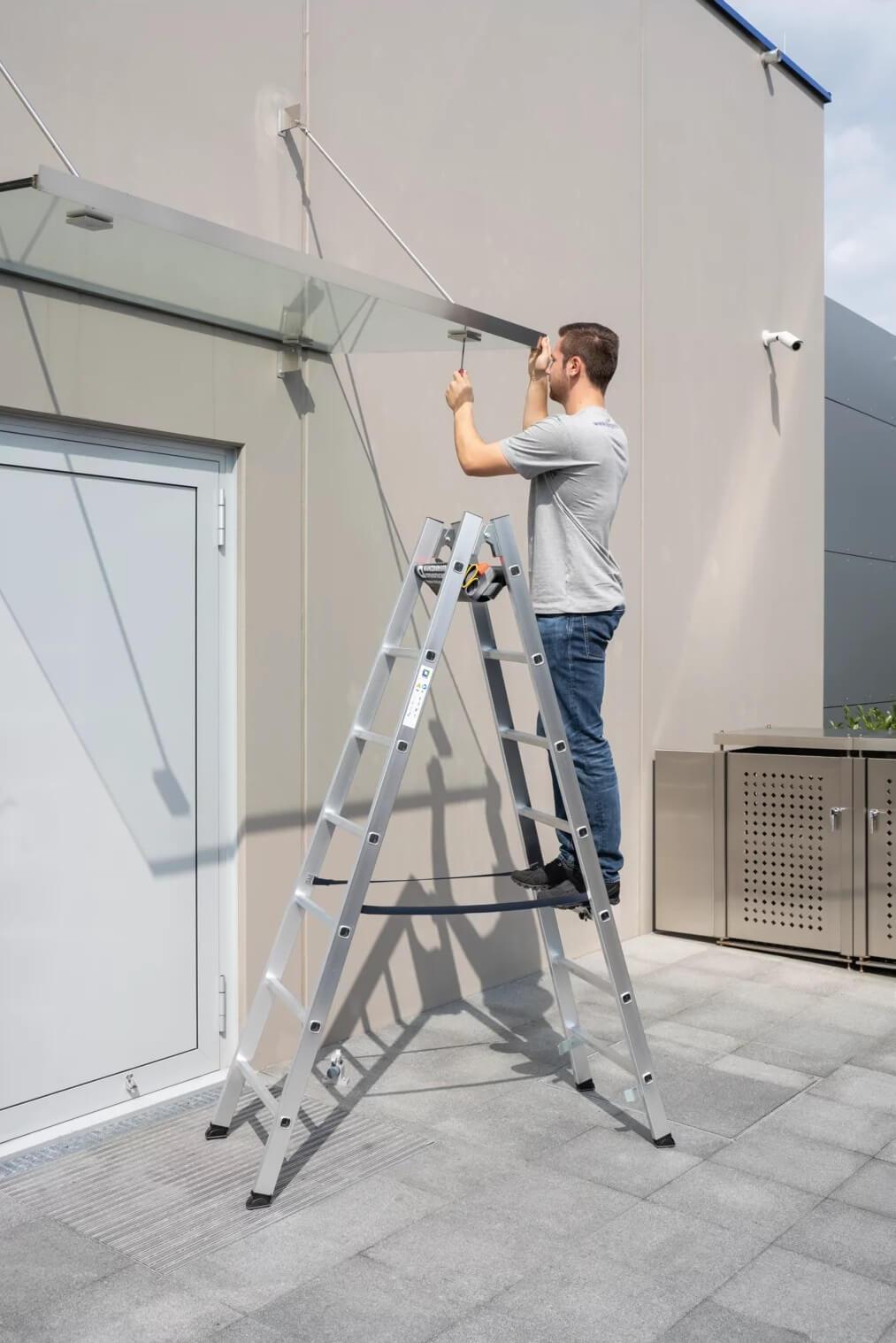 Dubbele ladder, artikelnummer 11154