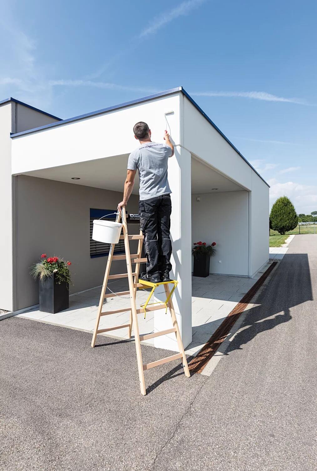 Houten dubbele ladder