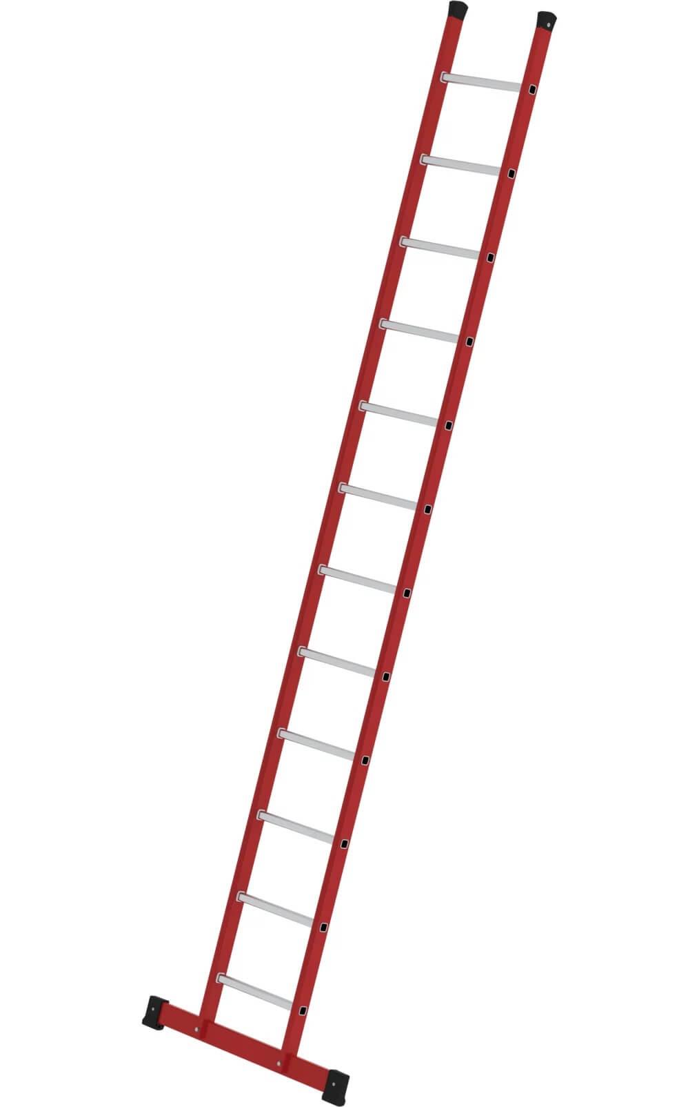 Kunststof enkele ladder, met stabilisatiebalk, 1x12, 35312