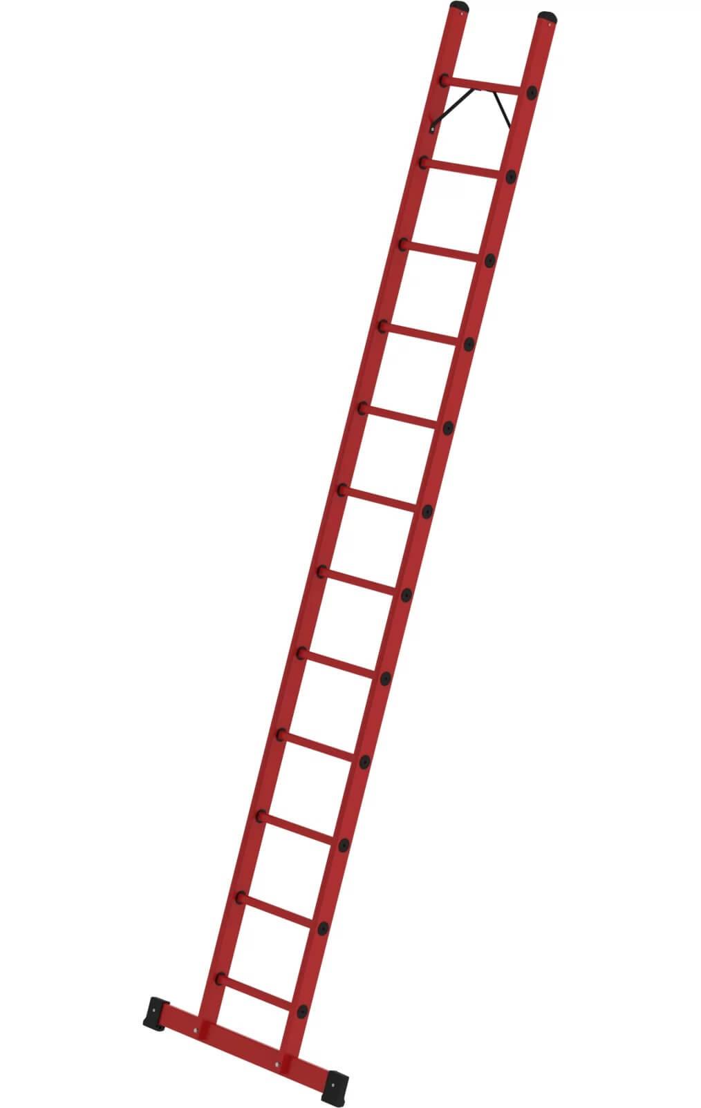 Volkunststof enkele ladder, met stabilisatiebalk, 1x12, 36812