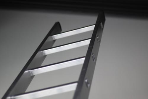 Aluminium enkele ladder, detail 1