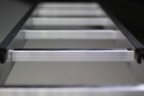 Aluminium enkele ladder, detail 2